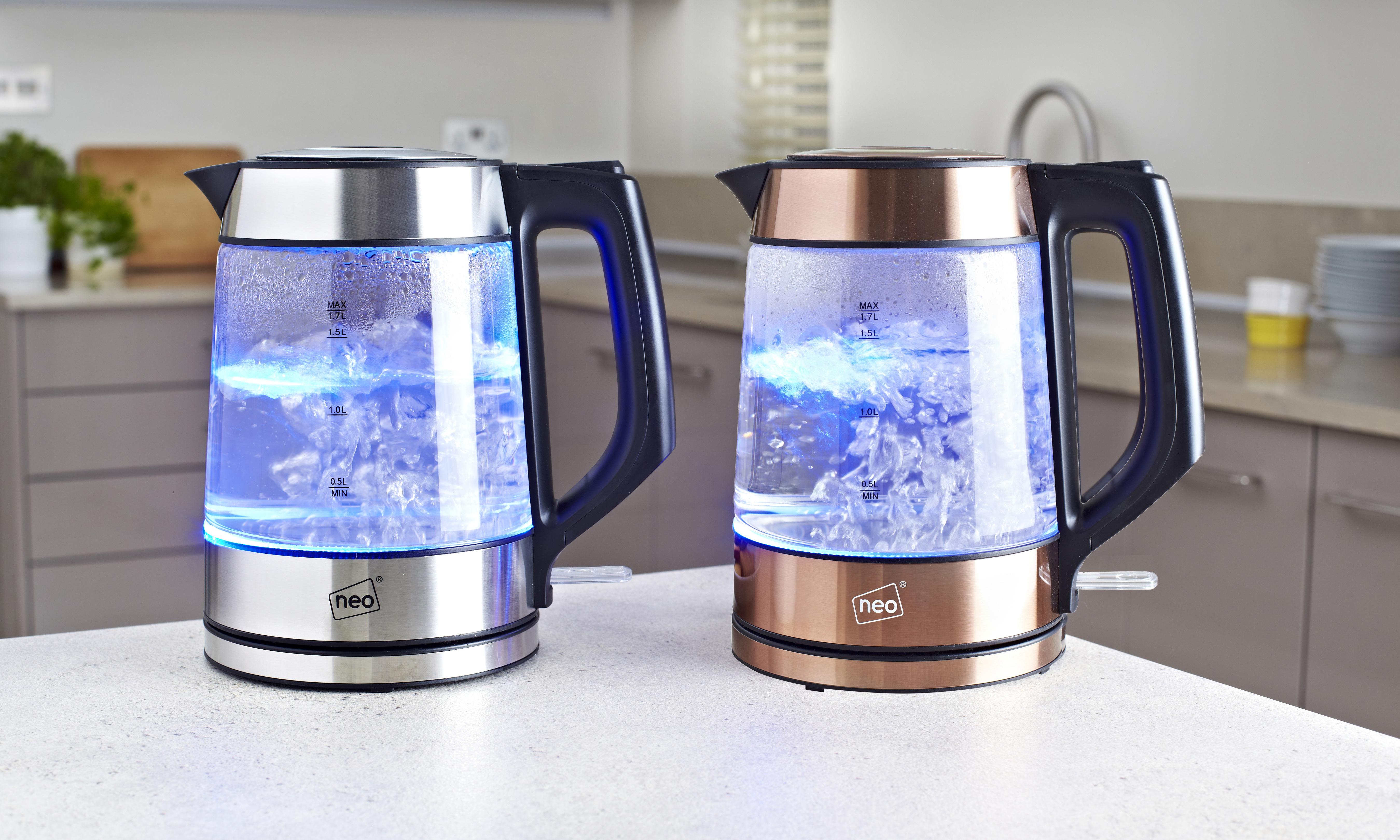 Illuminating Glass Kettle in Copper